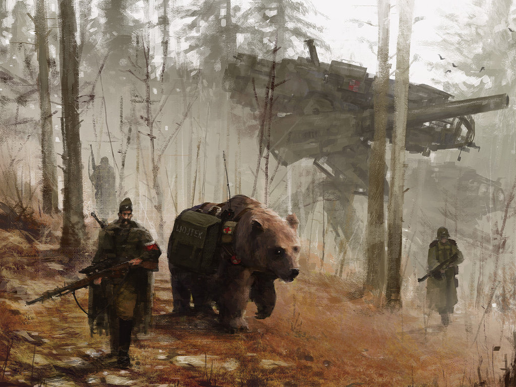 Fantasy Wallpaper: Jakub Rozalski - Patrol