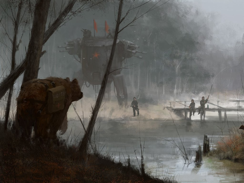 Fantasy Wallpaper: Jakub Rozalski - Quiet
