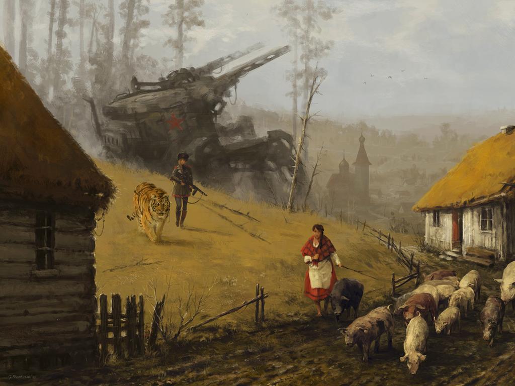 Fantasy Wallpaper: Jakub Rozalski - Strong Temptation