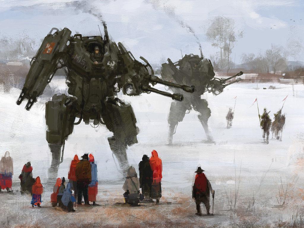Fantasy Wallpaper: Jakub Rozalski - Winter