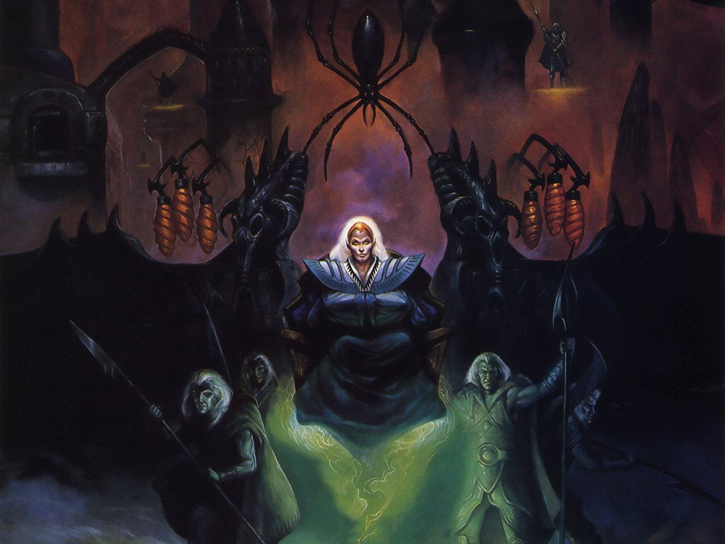 Fantasy Wallpaper: Jeff Easley - Drow