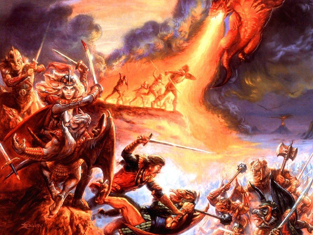 Fantasy Wallpaper: Jeff Easley - Epic Battle