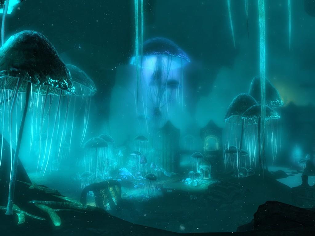 Fantasy Wallpaper: Jellyfish - Ruins