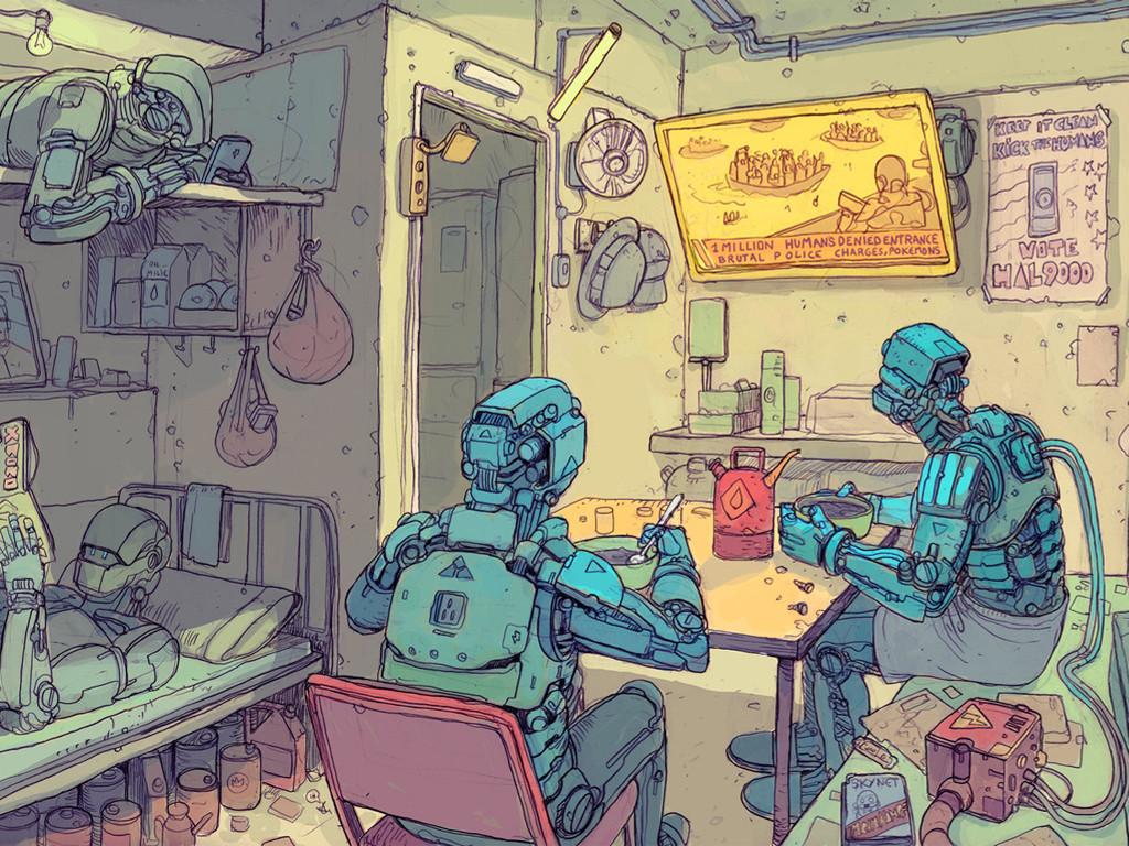 Fantasy Wallpaper: Josan Gonzalez - Robots