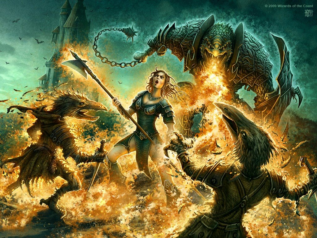 Fantasy Wallpaper: Kerem Beyit - Dragonborn Breath