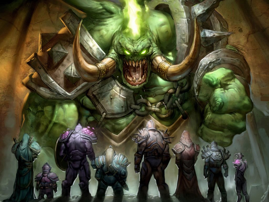 Fantasy Wallpaper: King of the Orcs