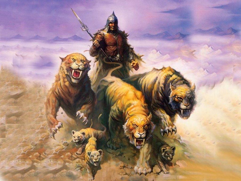 Fantasy Wallpaper: King of Tigers