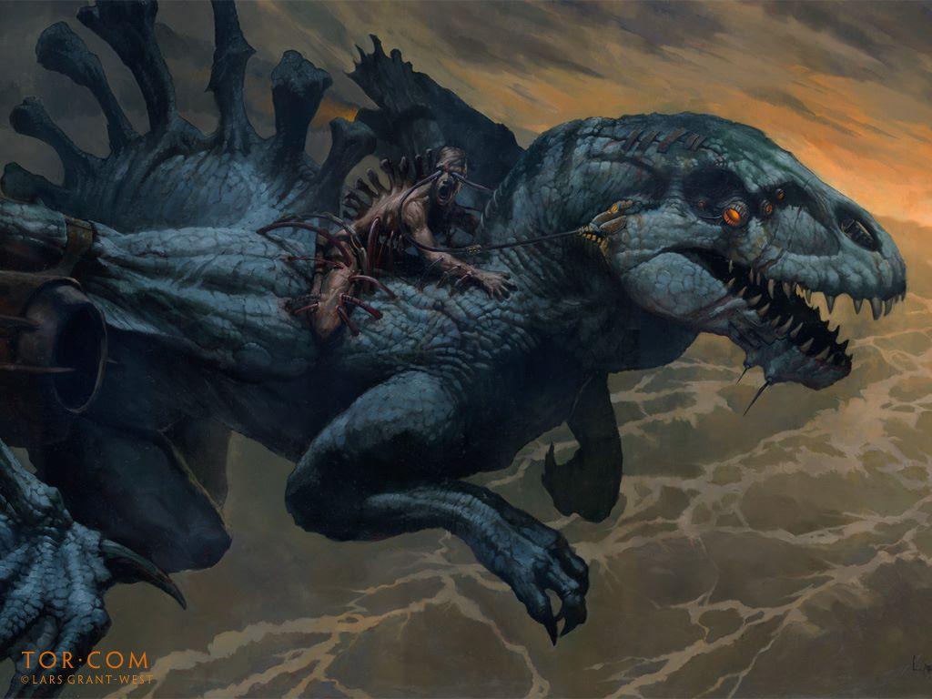 Fantasy Wallpaper: Lars Grant-West - Cybordragon