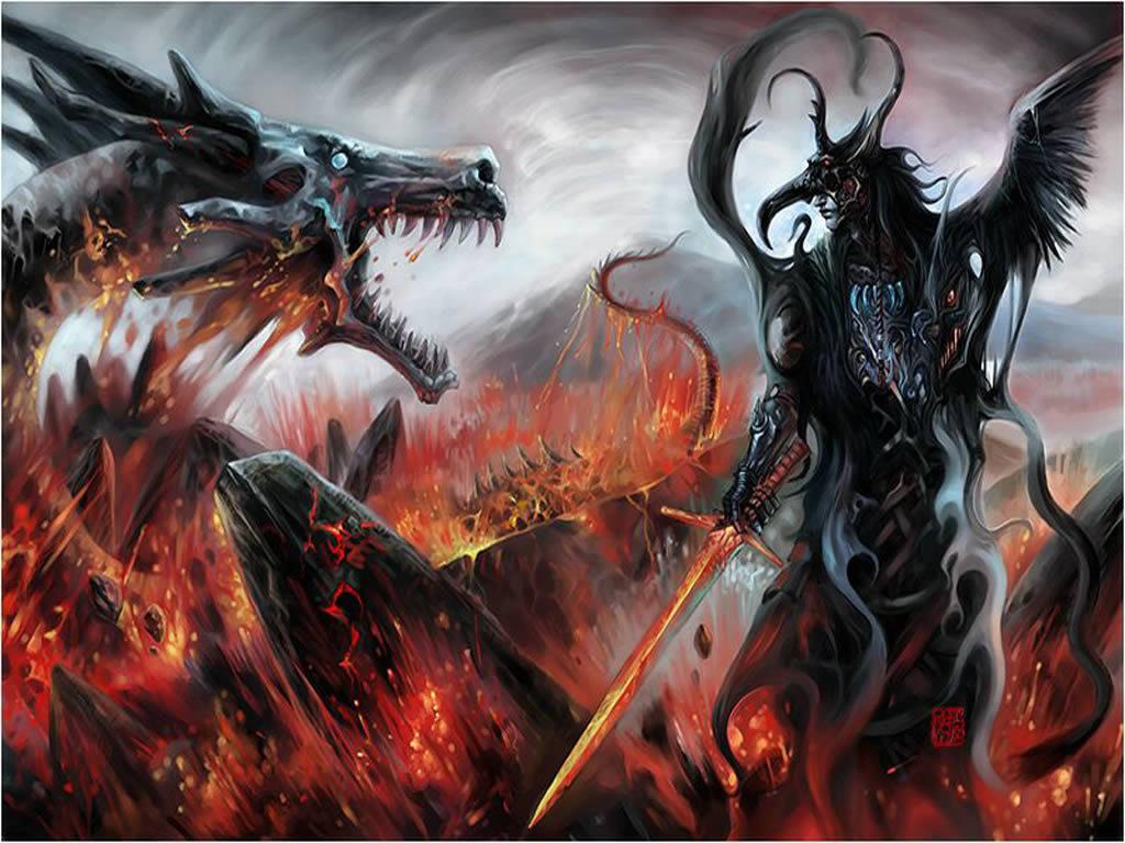 Fantasy Wallpaper: Lava Dragon