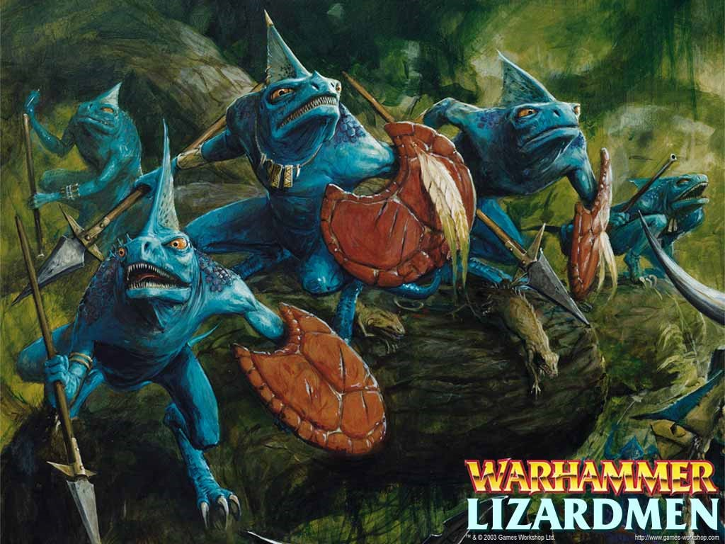 Fantasy Wallpaper: Warhammer - Lizardmen