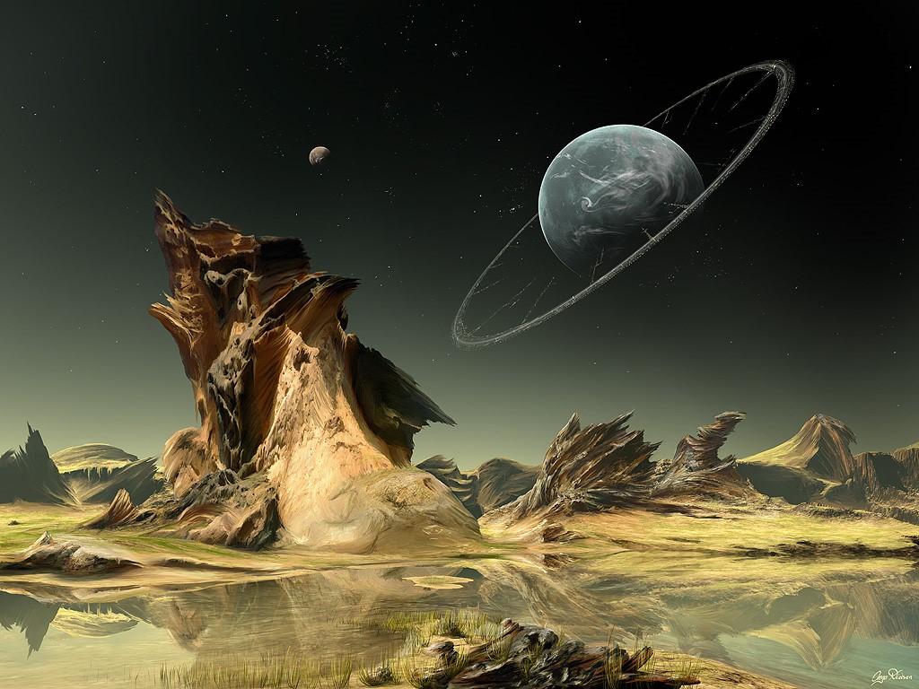 Fantasy Wallpaper: Looking Towards Home