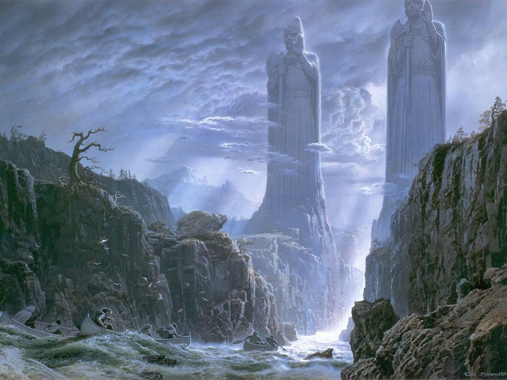 Fantasy Wallpaper: Lord of the Rings - Pillars of the Kings
