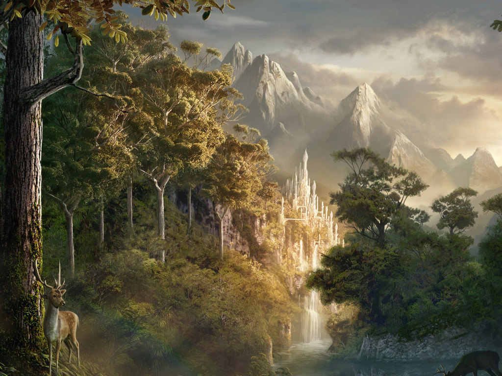Fantasy Wallpaper: Lost City of the Elfs