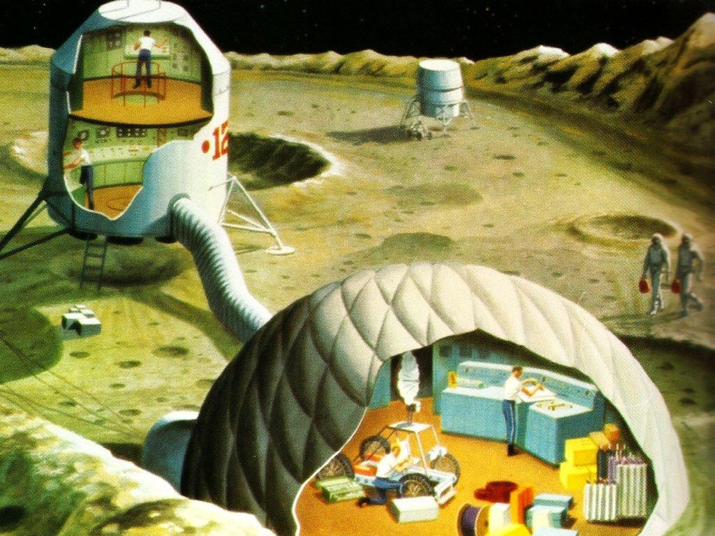 Fantasy Wallpaper: Lunar Colonies