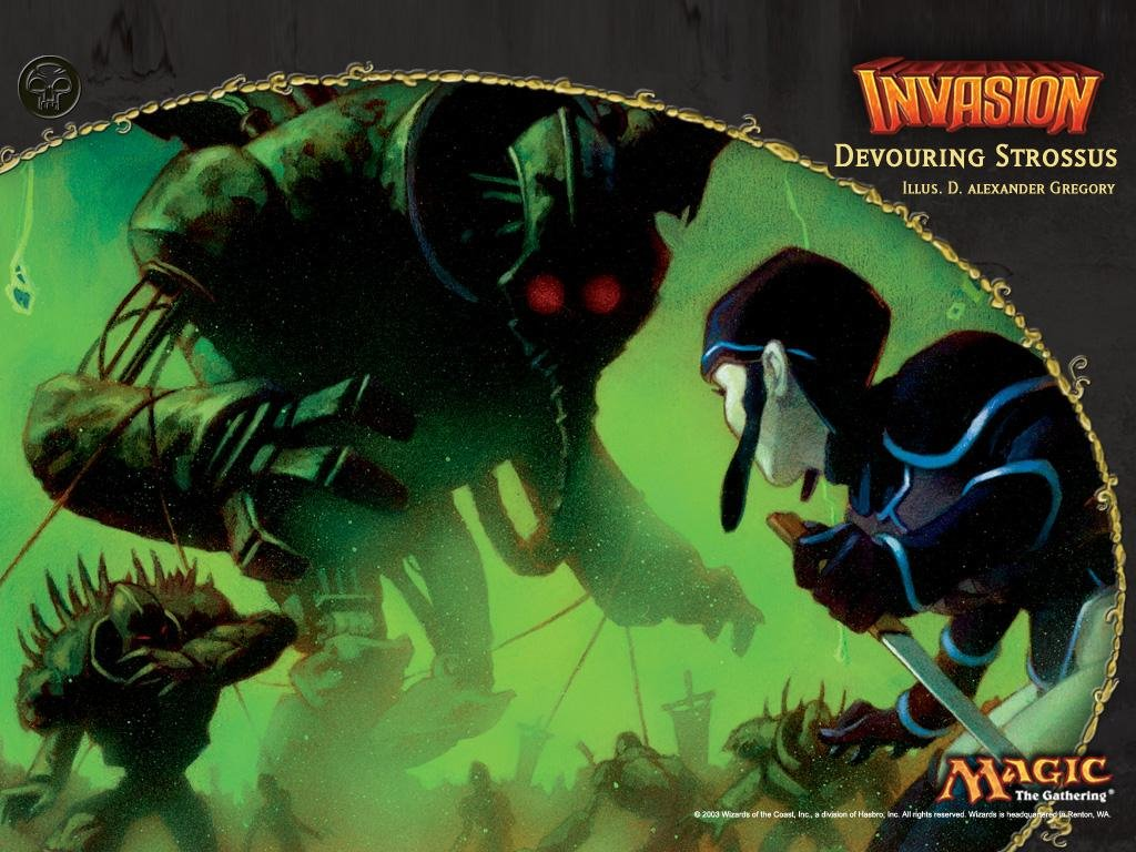 Fantasy Wallpaper: Magic the Gathering - Devouring Strossus
