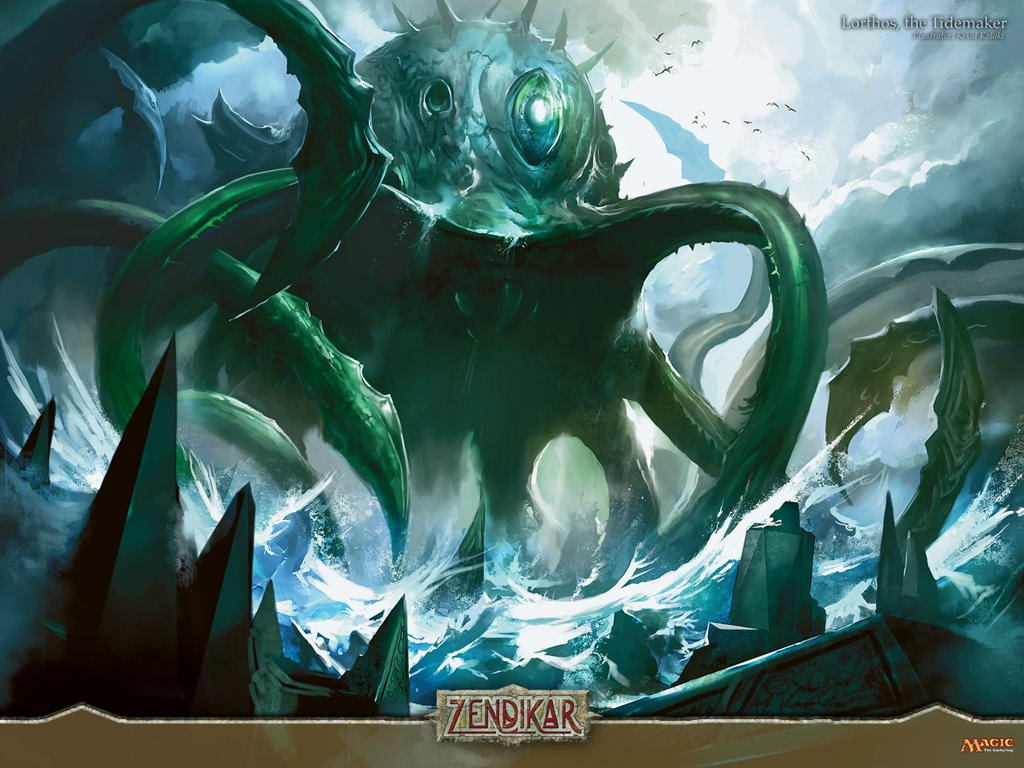 Fantasy Wallpaper: Magic the Gathering - Lorthos the Tidemaker
