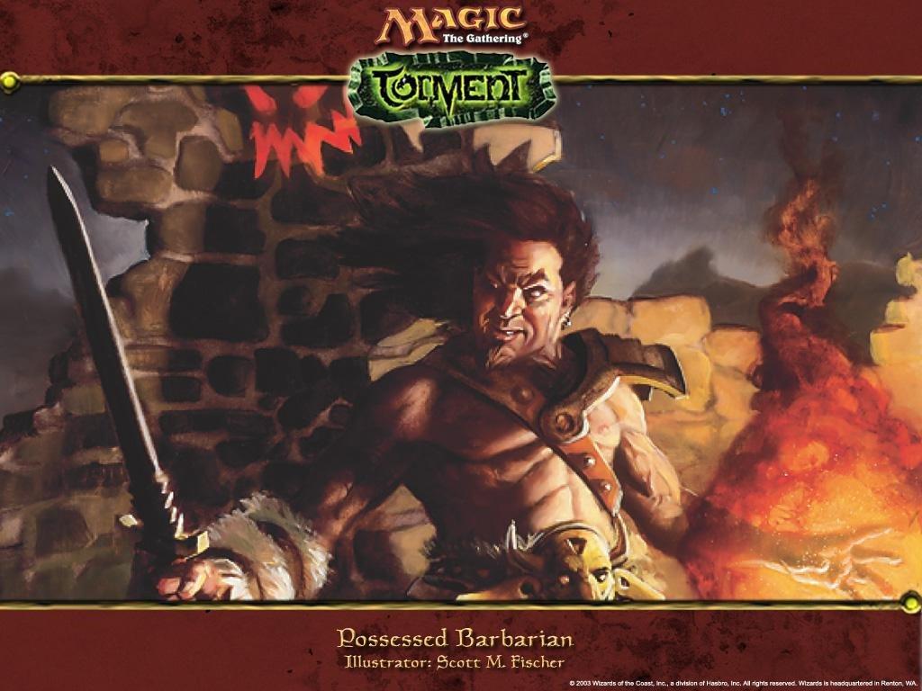 Fantasy Wallpaper: Magic the Gathering - Possessed Barbarian