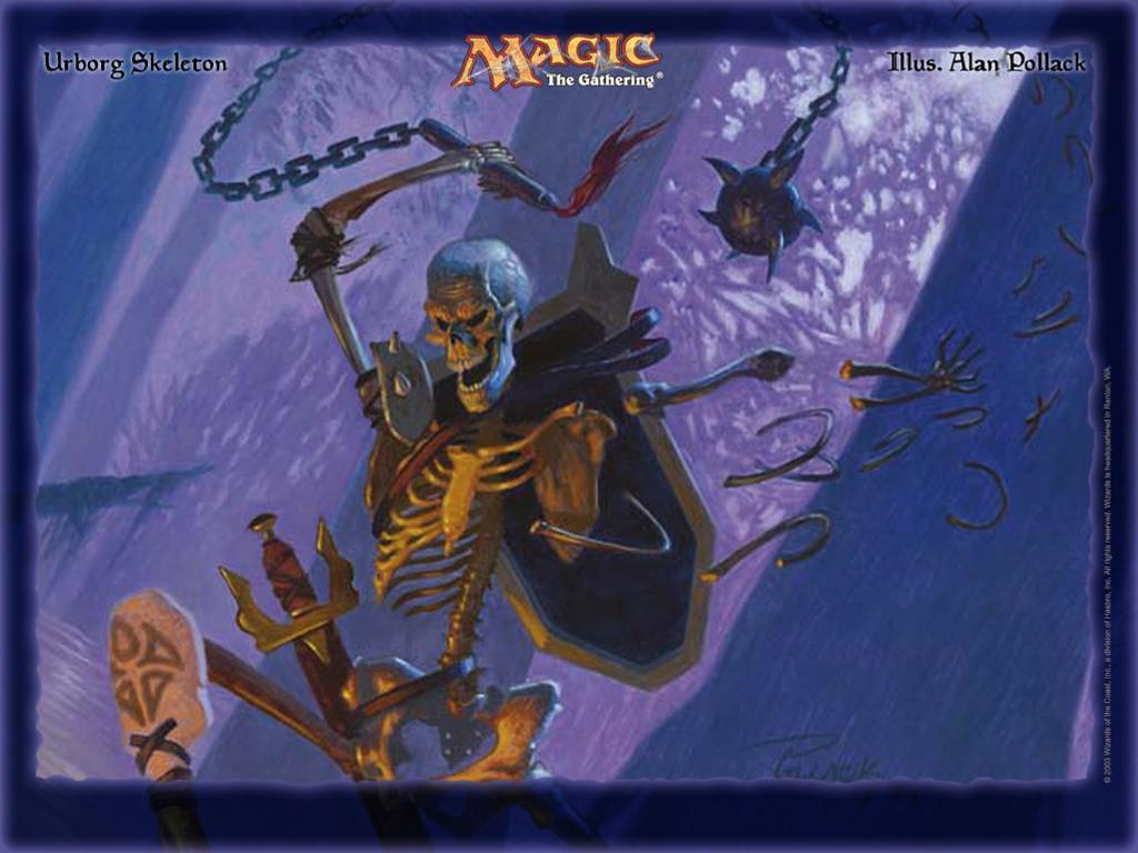 Fantasy Wallpaper: Magic the Gathering - Urborg Skeleton