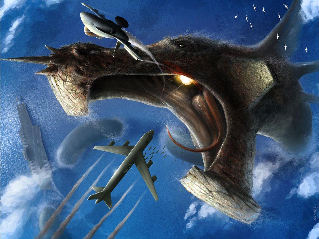 Fantasy Wallpaper: Magnathorax - The Secret of the Bermuda Triangle