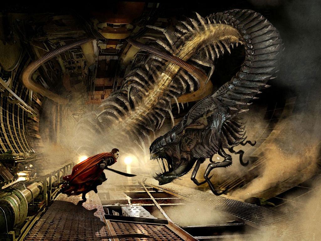 Fantasy Wallpaper: Monster in Mars