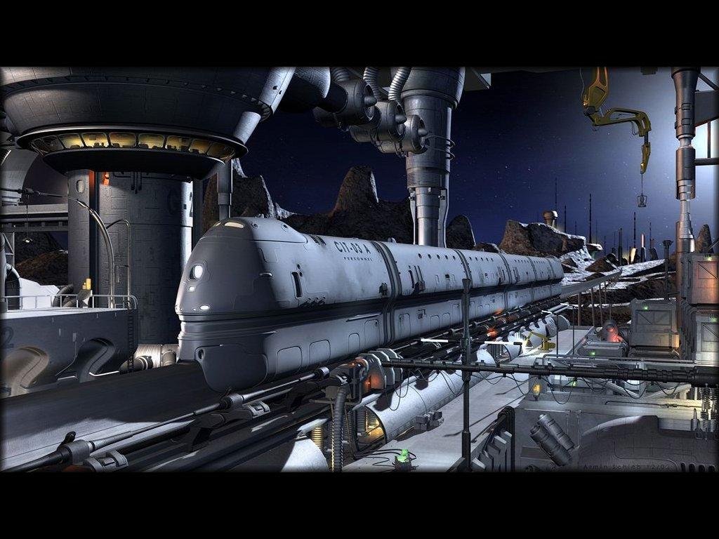 Fantasy Wallpaper: Martian Train