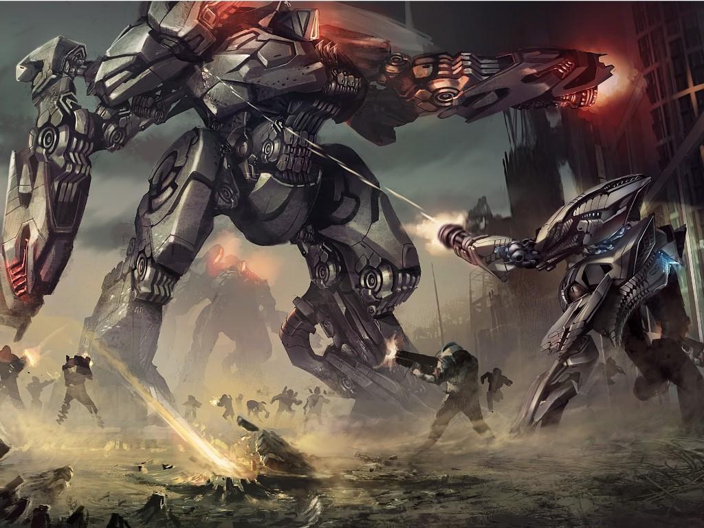 Fantasy Wallpaper: Mech - Battle