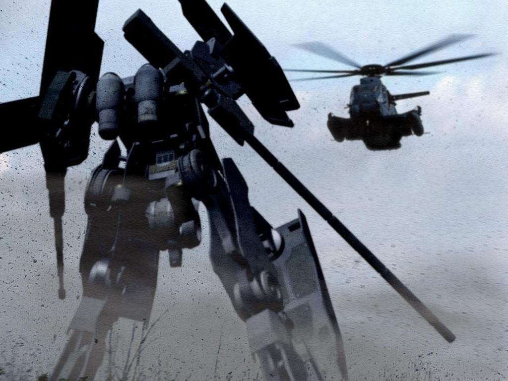 Fantasy Wallpaper: Mecha vs. Chopper