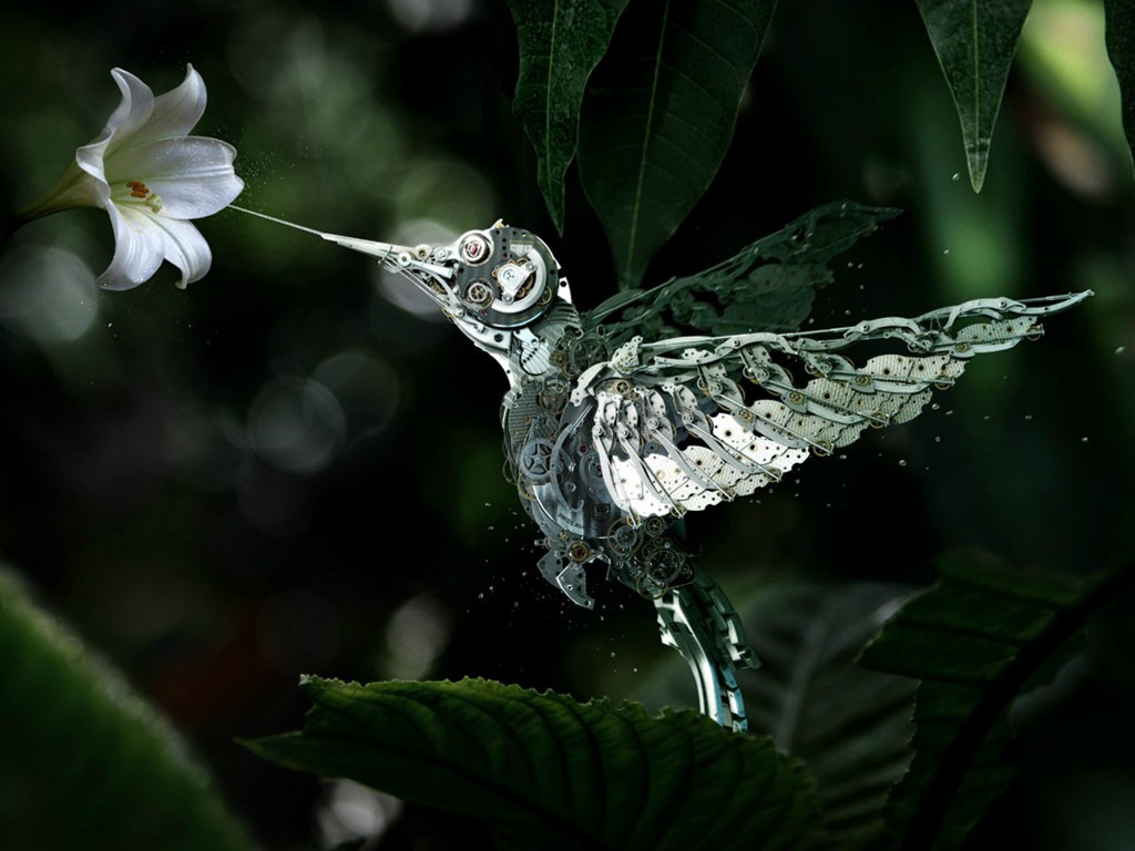 Fantasy Wallpaper: Mechanical Humming Bird