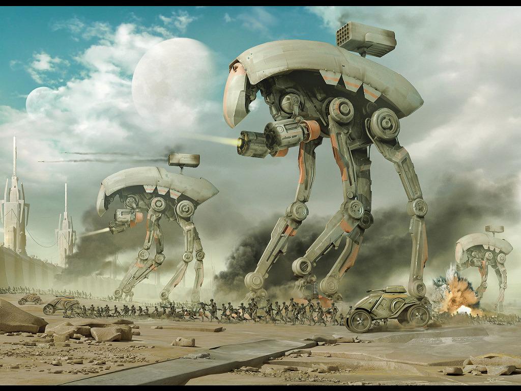 Fantasy Wallpaper: Mechanical Warfare