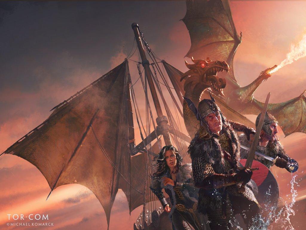 Fantasy Wallpaper: Michael Komarck - Bones of the Dragon
