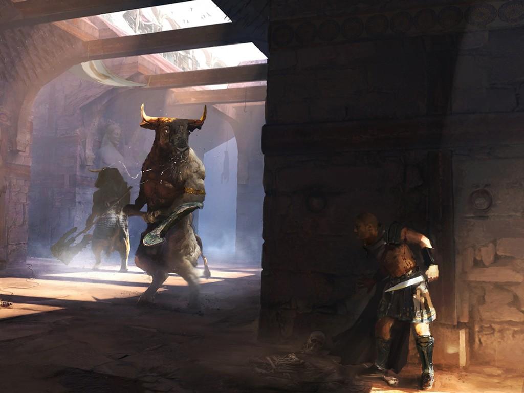 Fantasy Wallpaper: Minotaurs