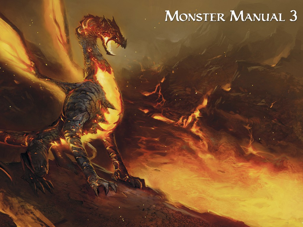 Fantasy Wallpaper: Monster Manual 3 - Volcanic Dragon
