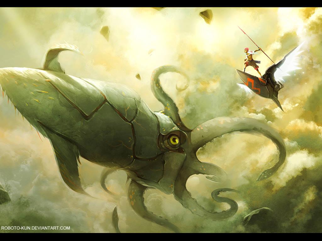Papel de Parede Gratuito de Fantasia : Caçador de Monstros