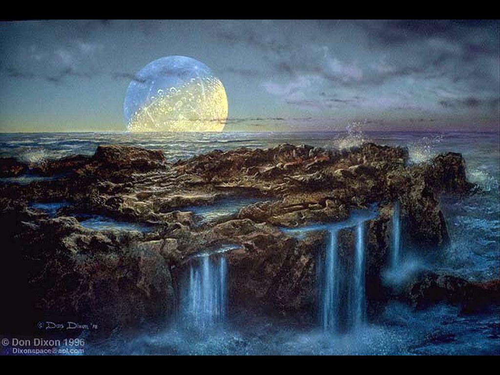 Fantasy Wallpaper: Moon Rise