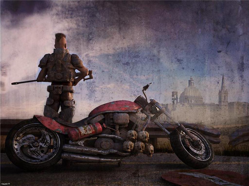 Fantasy Wallpaper: Moto Hunter