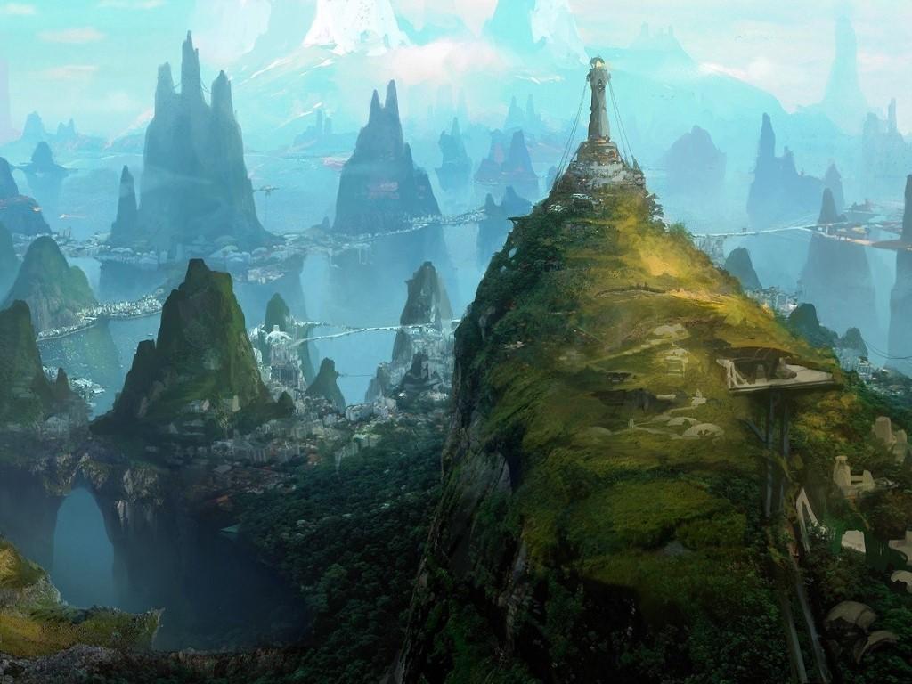 Fantasy Wallpaper: Mountain Outpost