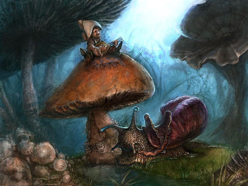 Fantasy Wallpaper: Mushroom Bard