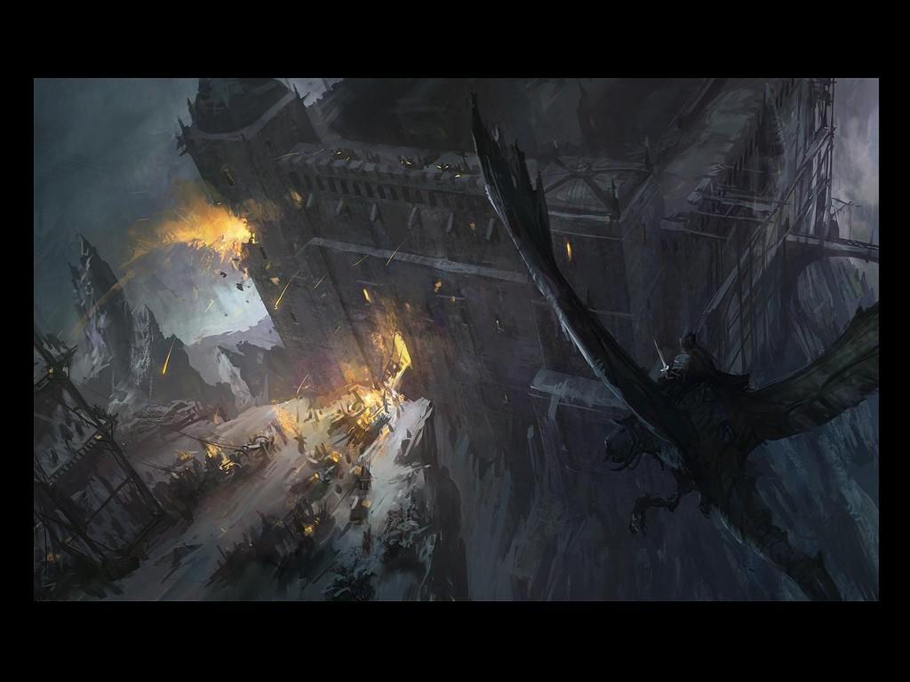 Fantasy Wallpaper: Nazgul - Siege
