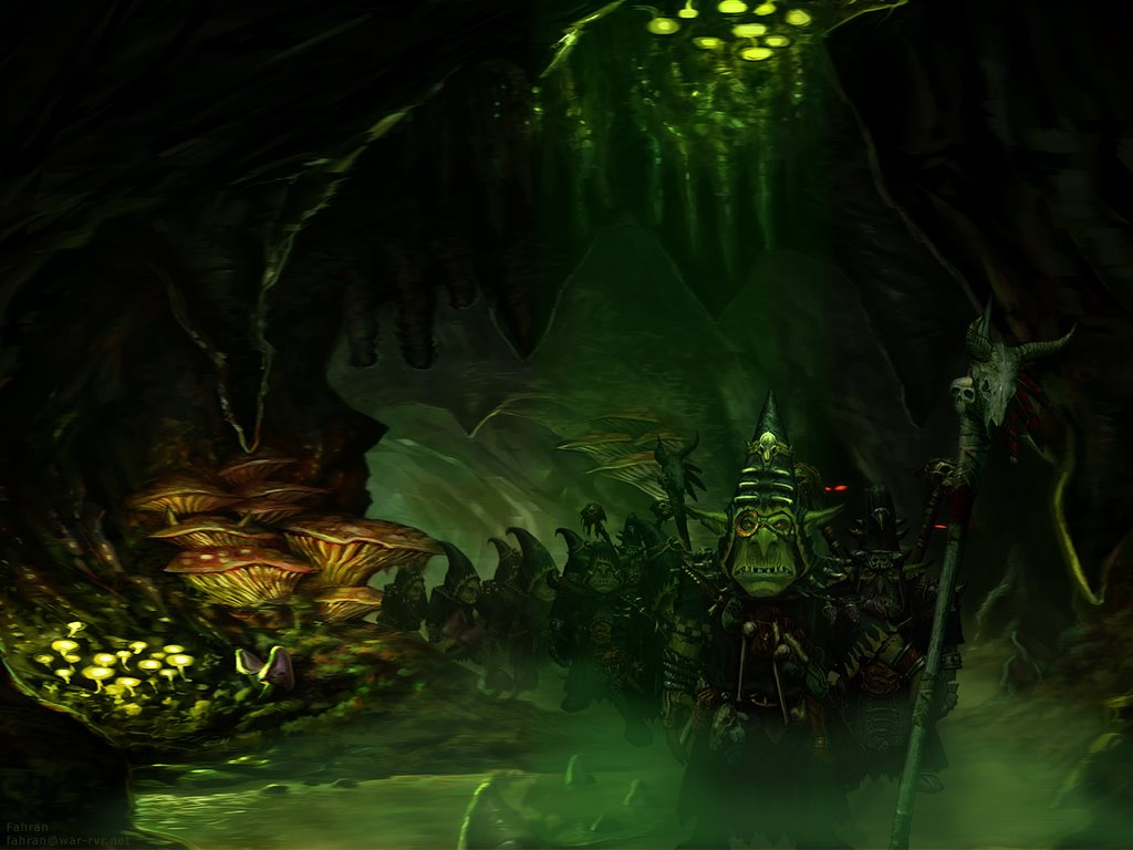 Fantasy Wallpaper: Night Goblin Cave