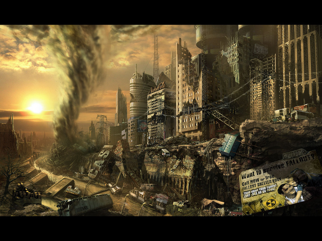 Fantasy Wallpaper: Nuclear Tornado
