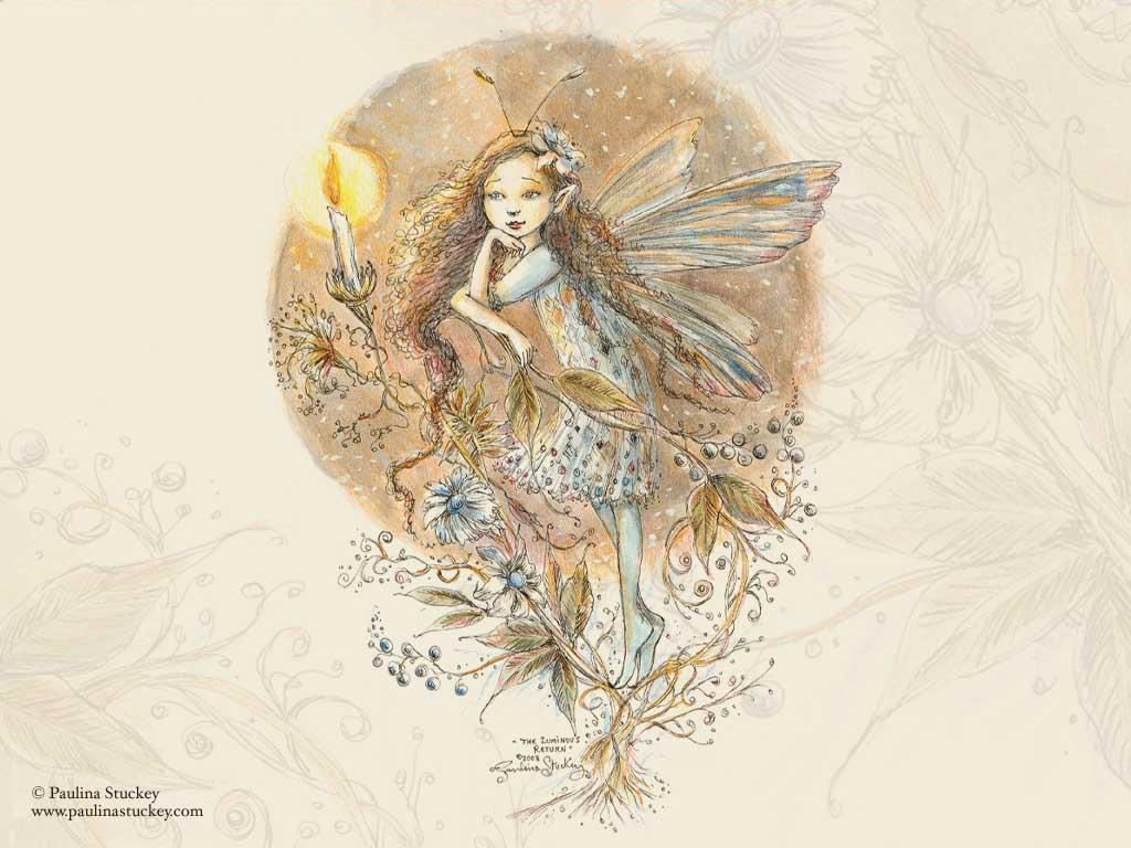 Fantasy Wallpaper: Ocre Faerie