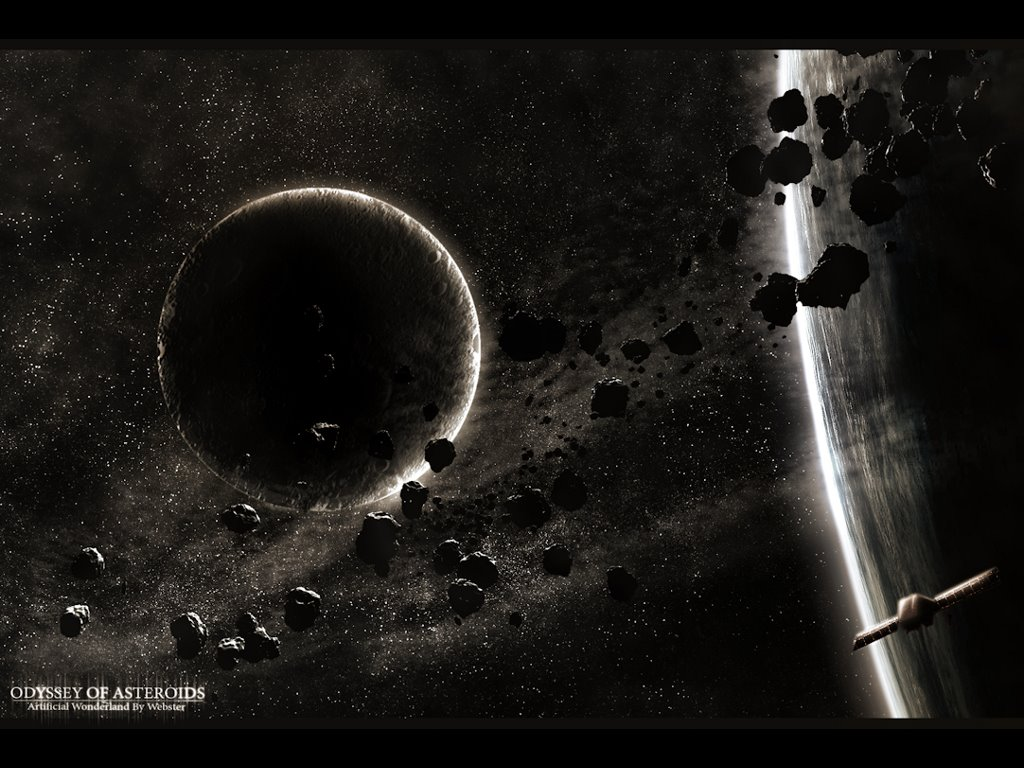 Fantasy Wallpaper: Asteroids