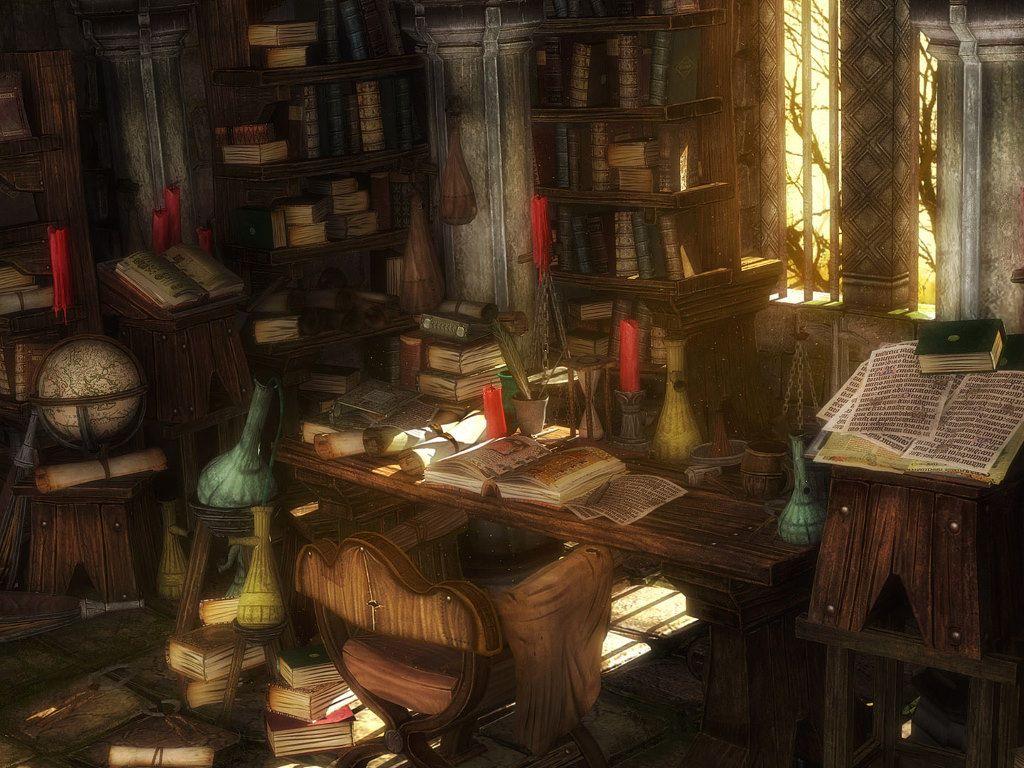 Fantasy Wallpaper: Old Library