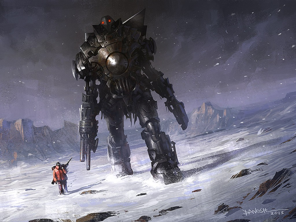 Fantasy Wallpaper: On Thin Ice