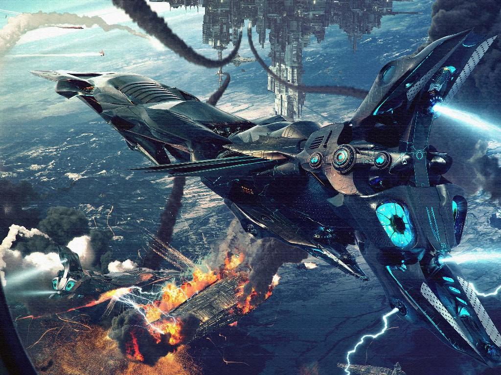 Fantasy Wallpaper: Orbital Battle