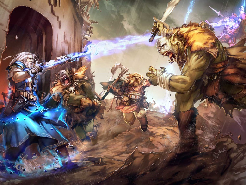 Fantasy Wallpaper: Orc Attack!