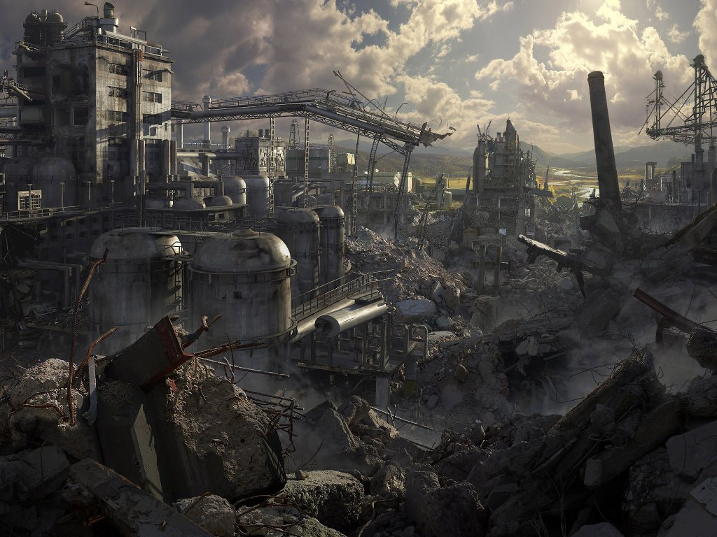 Fantasy Wallpaper: Post-Apocalyptic Ruins