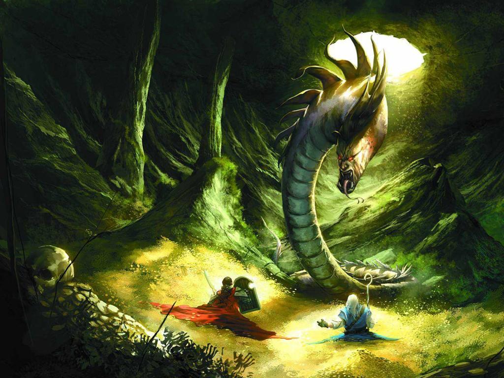 Fantasy Wallpaper: Pathfinder - Fight