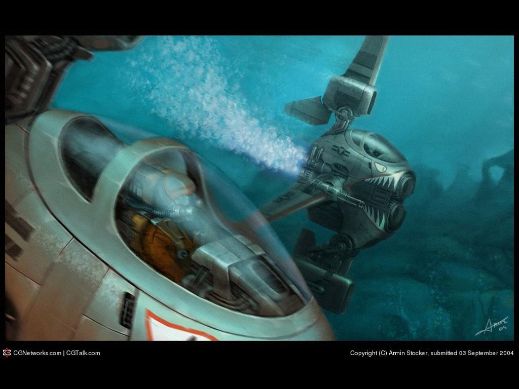 Fantasy Wallpaper: Piranha Subs