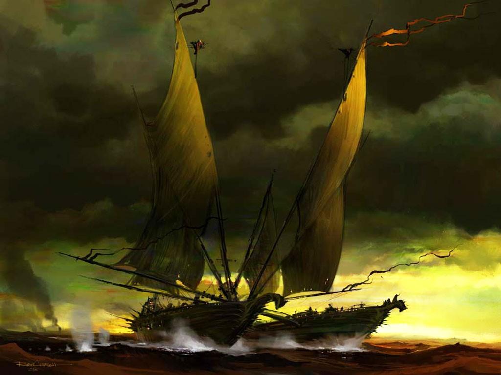 Fantasy Wallpaper: Pirate Catamaran